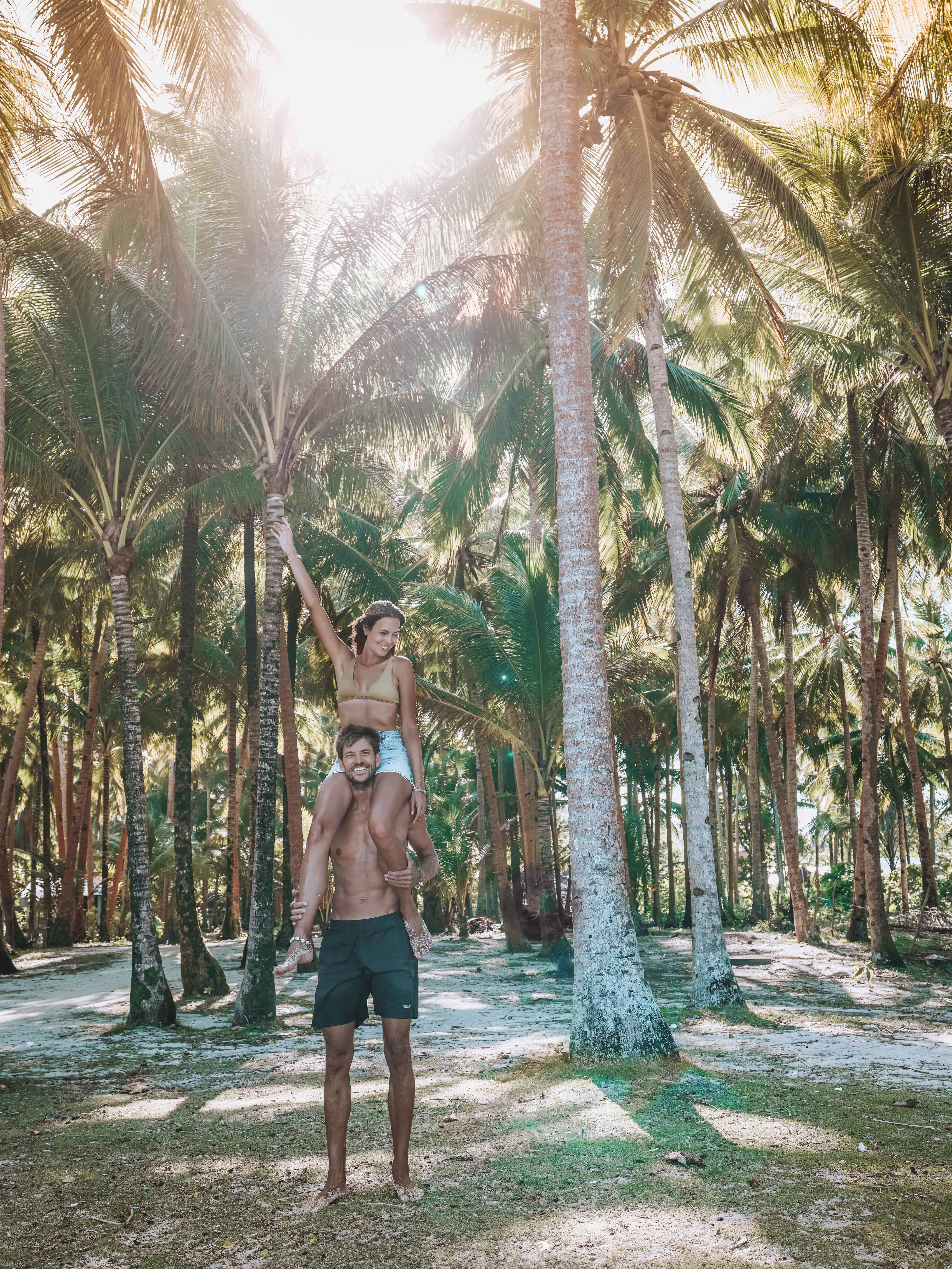 Siargao Alegria Beach Palm Trees Couple