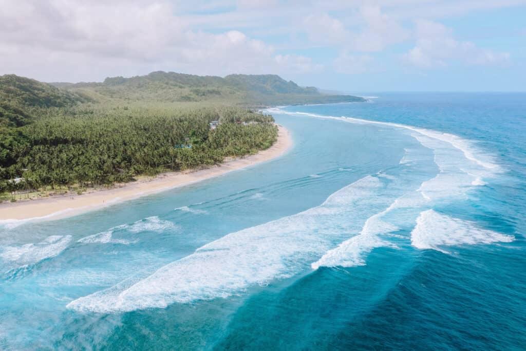 Siargao Pacifico Beach Drone View