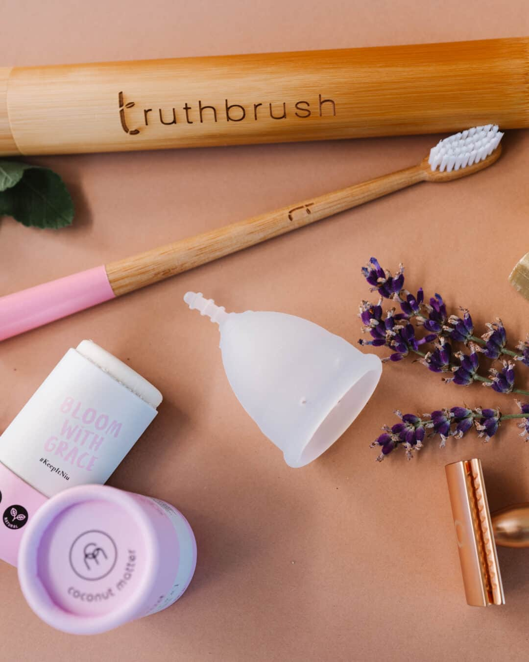 various sustainable beauty products