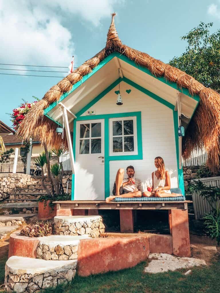 Beach hut at Le Pirate on Nusa Ceningan