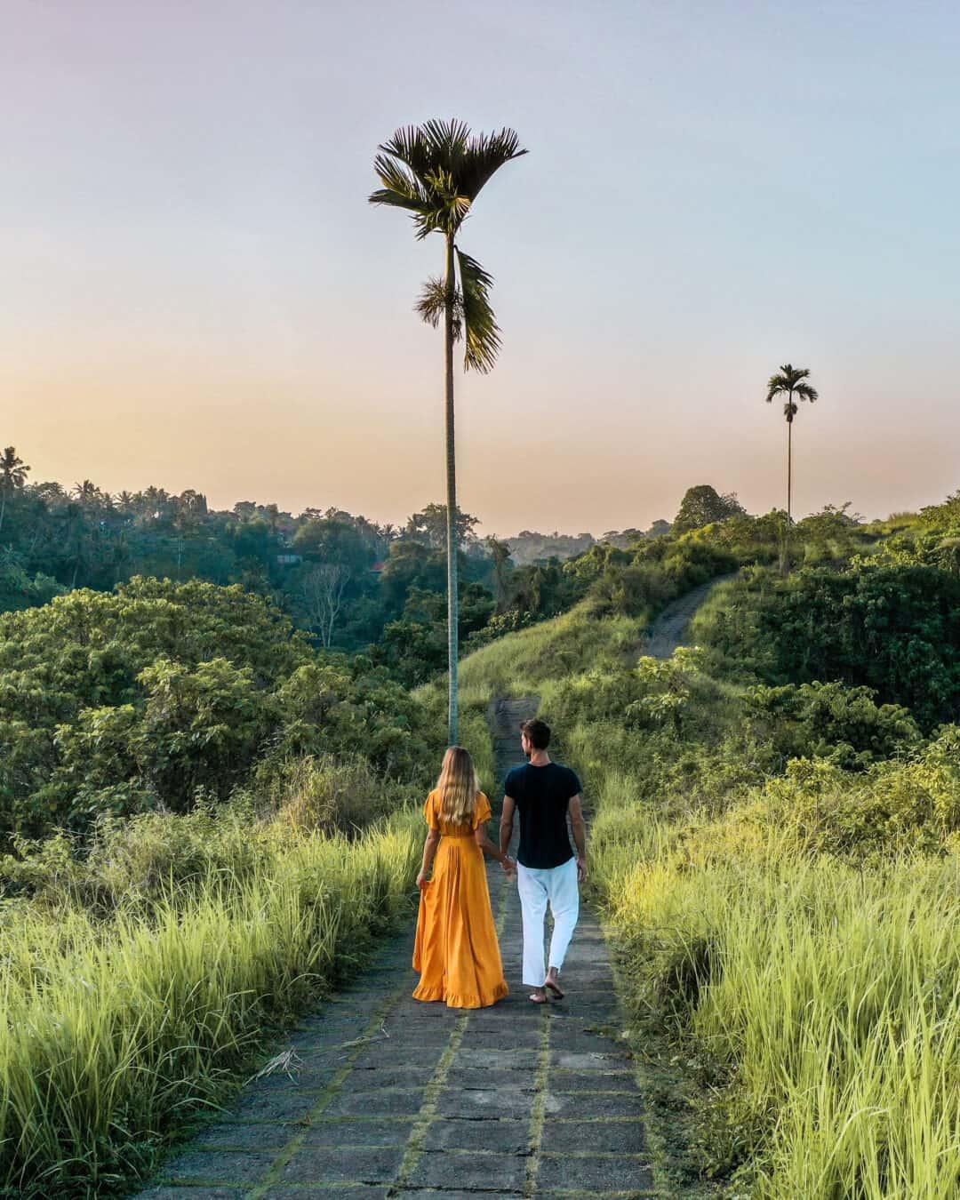 Couple walking on the Campuhan Ridge Walk Ubud
