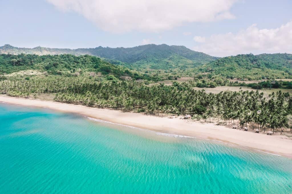 Drone Shot of Duli Beach El Nido Philippines