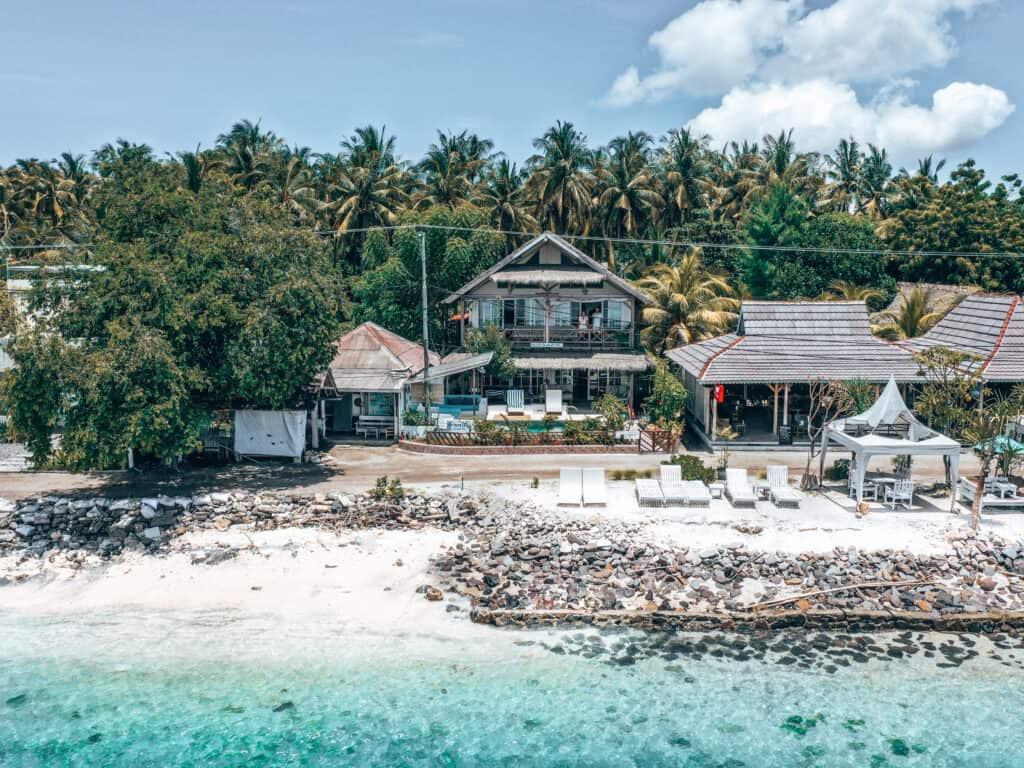 Serenity Beachfront Villa on Gili Air