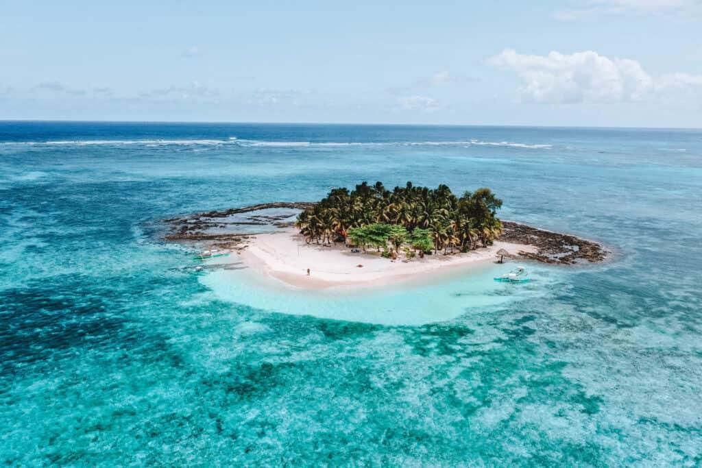 Drone view of Guyam Island Siargao
