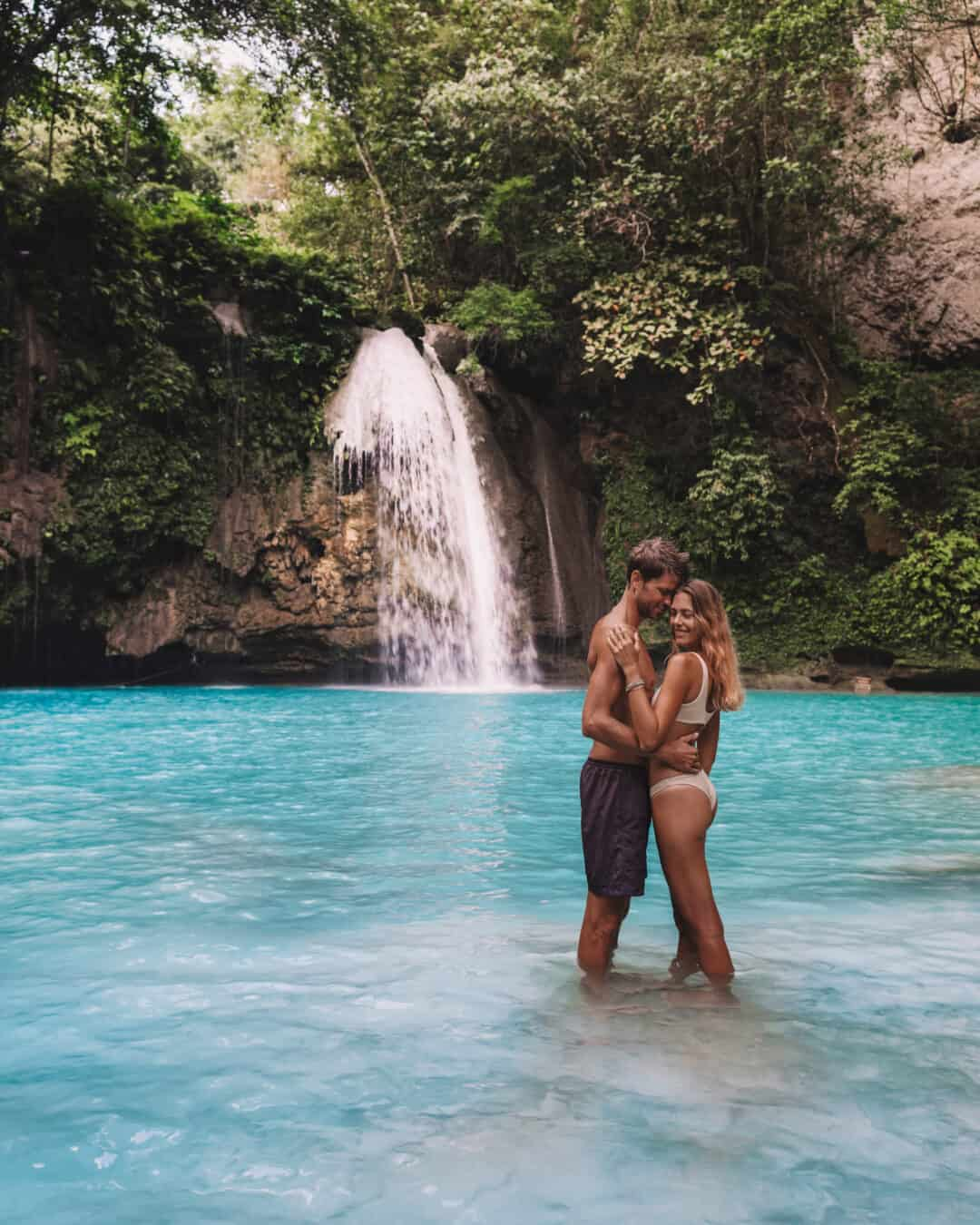 Couple at Kawasan Falls Cebu