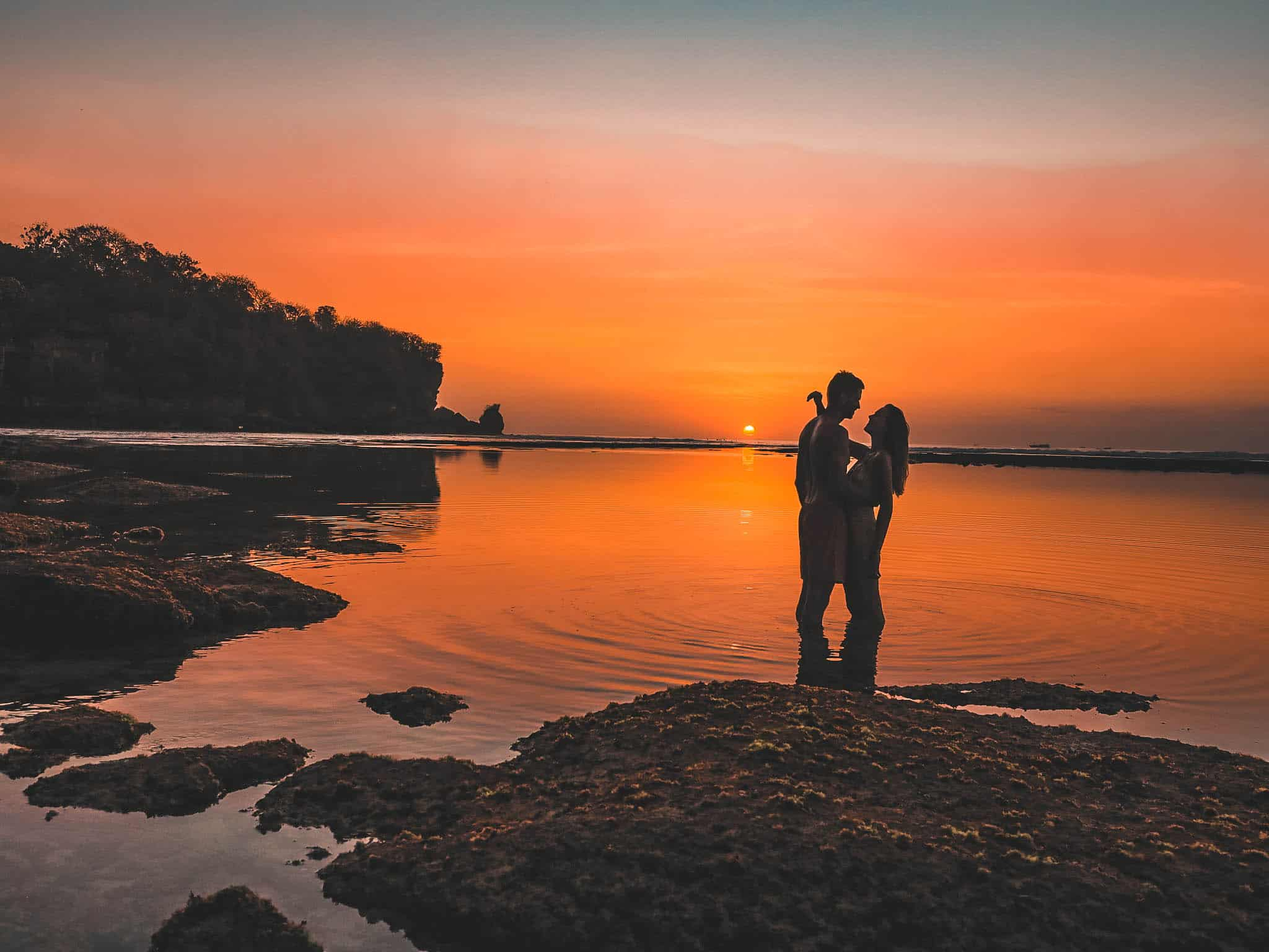 Sunset Padang Beach Uluwatu Bali