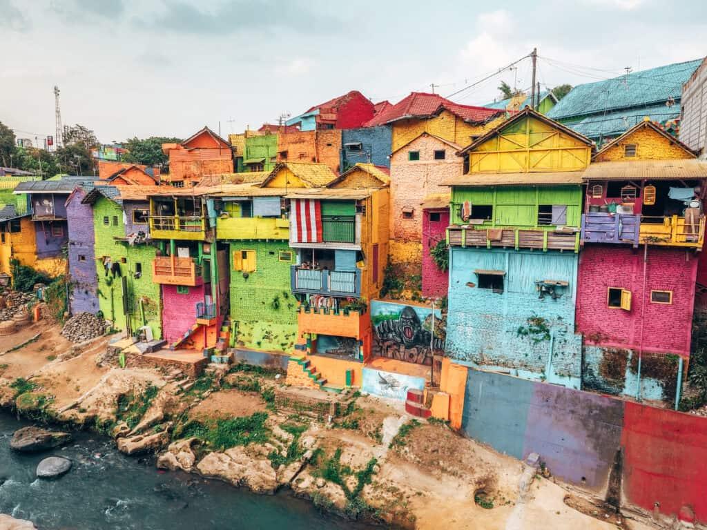 Houses at Rainbow Village Malang