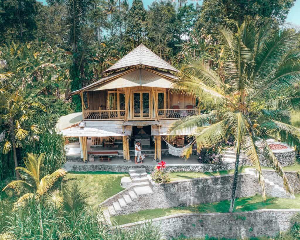 Camaya Bali Bamboo House Drone view
