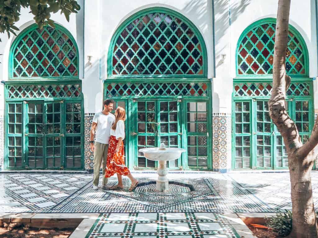 Marrakesh Bahia Palace Couple