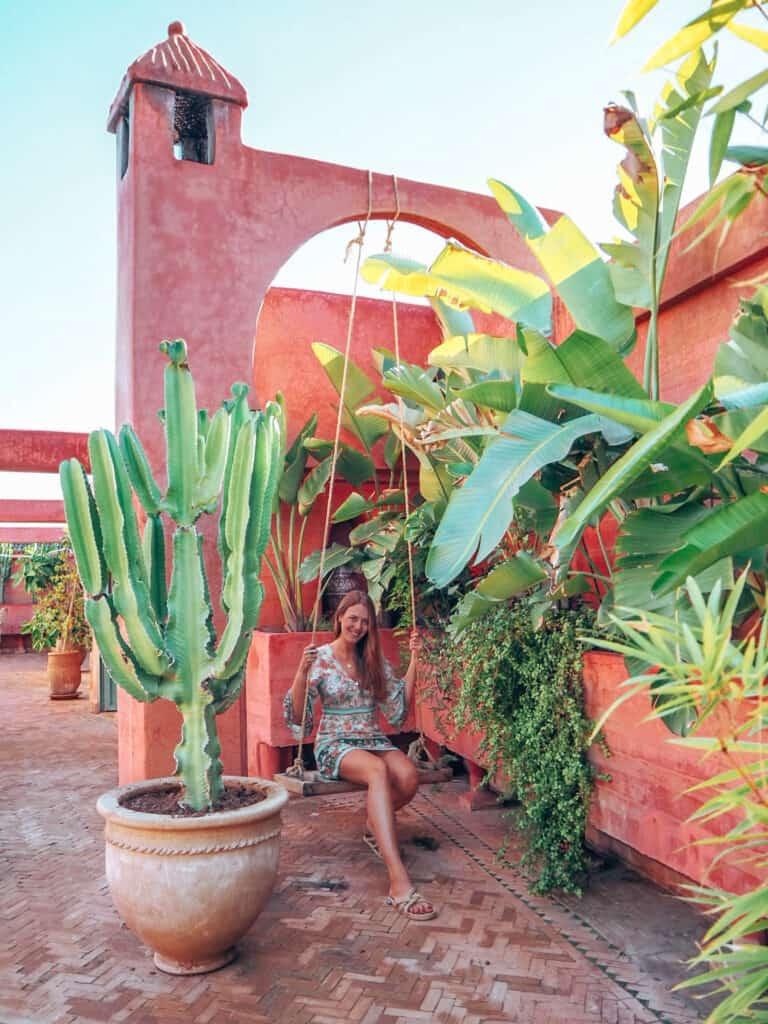 Marrakesh Riad Jardin Secret Swing Woman