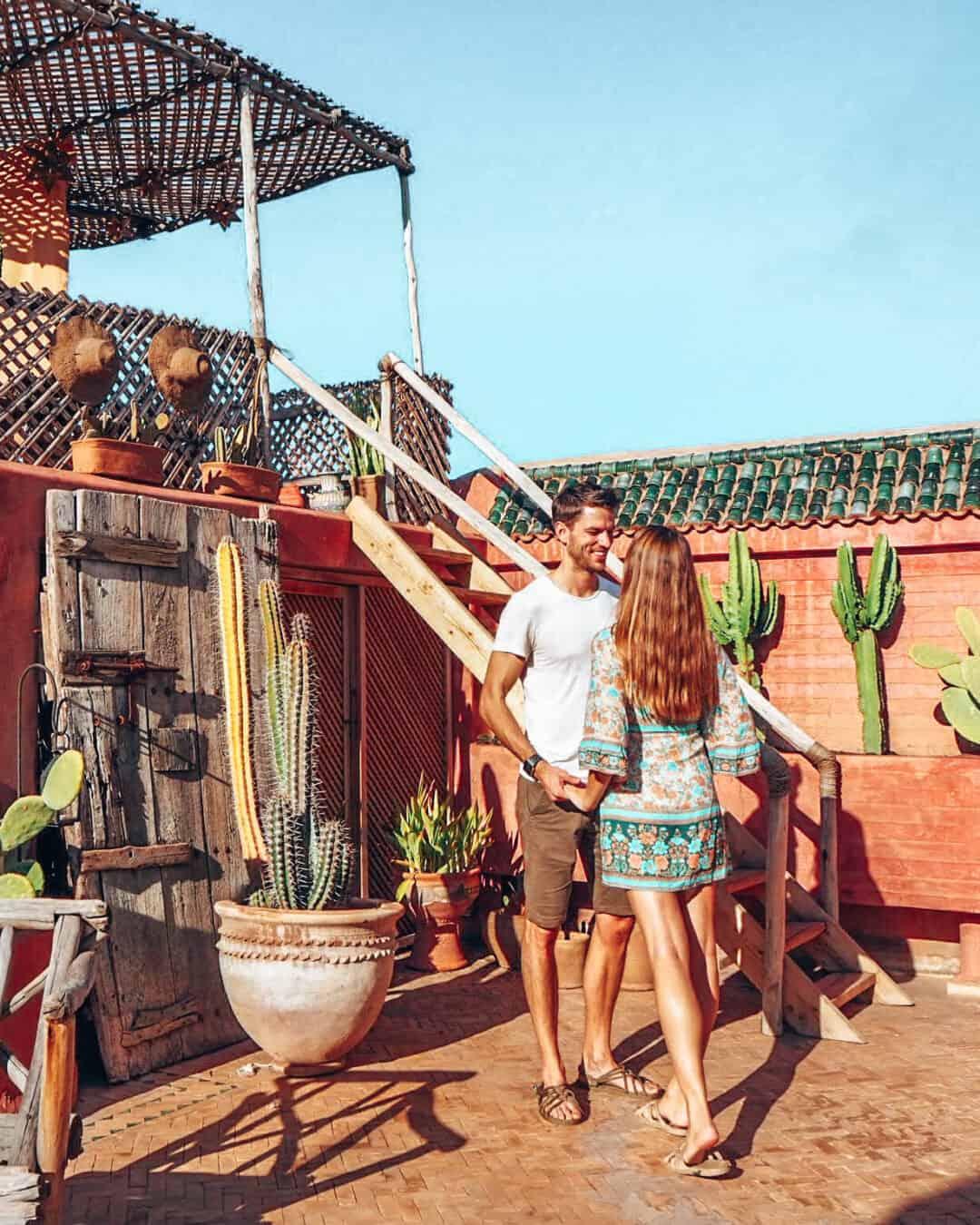 Marrakesh Riad Jardin Secret Rooftop Couple