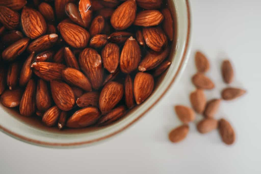 Cup Soaking Almonds