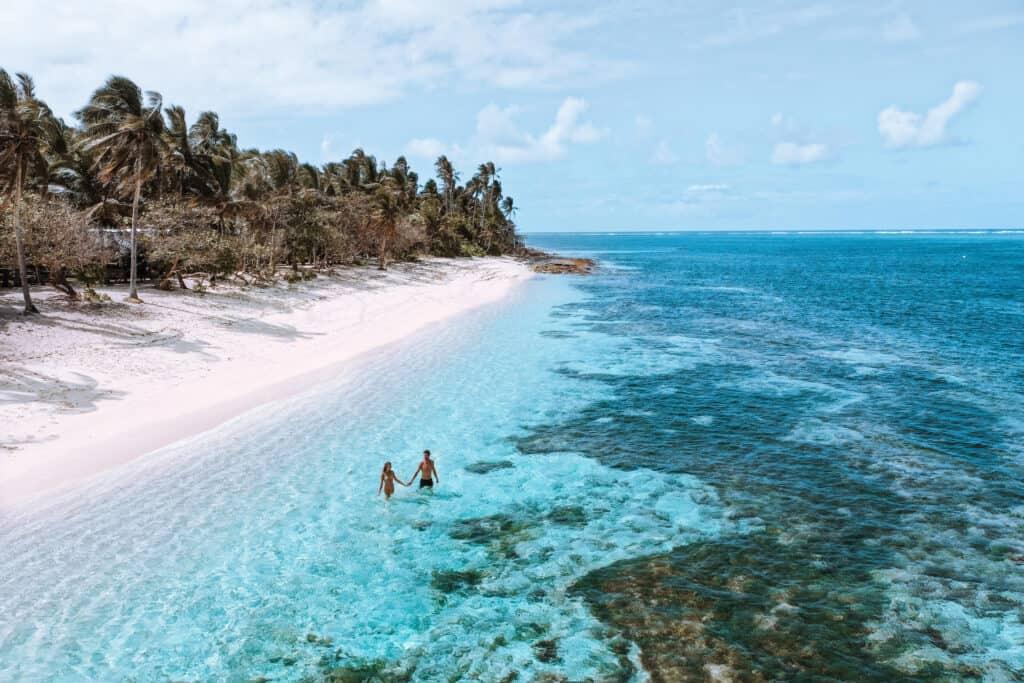 Drone view Alegria Beach Siargao Philippines