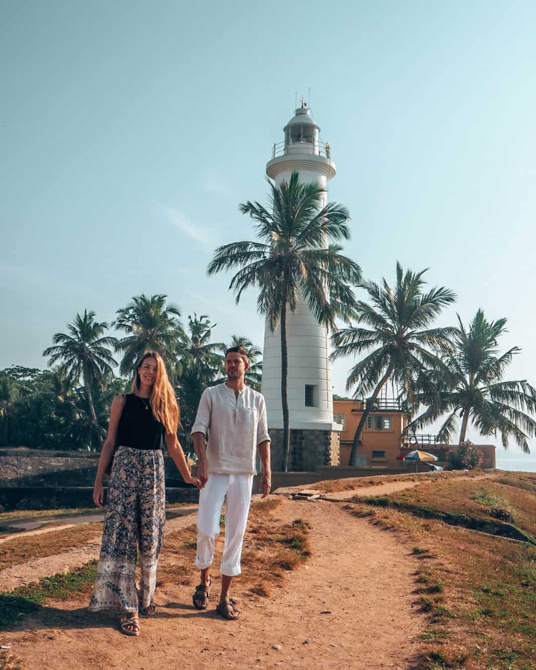 Galle Fort Lighthouse Couple