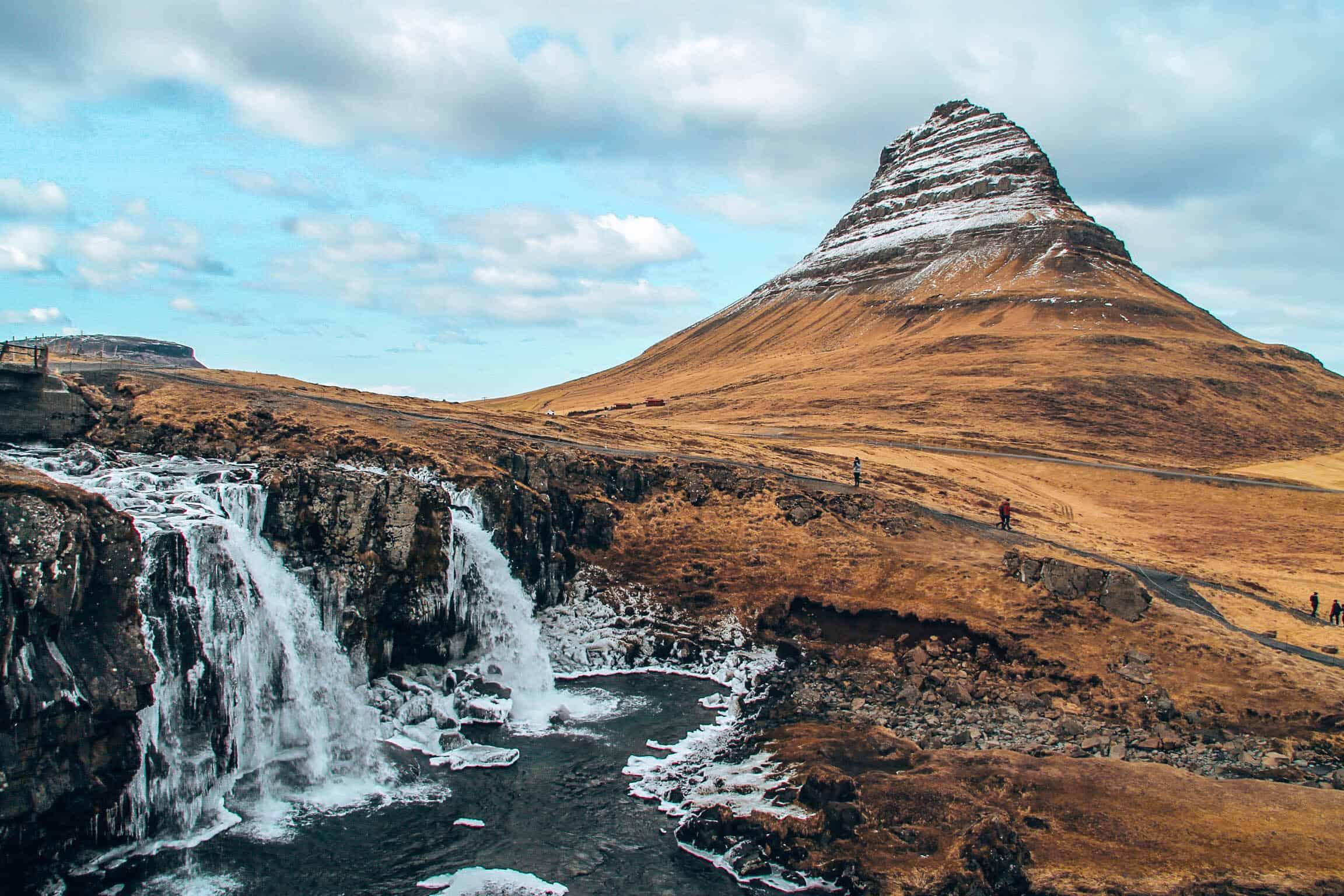 Kirkjufellsfoss Mountain Waterfall Iceland