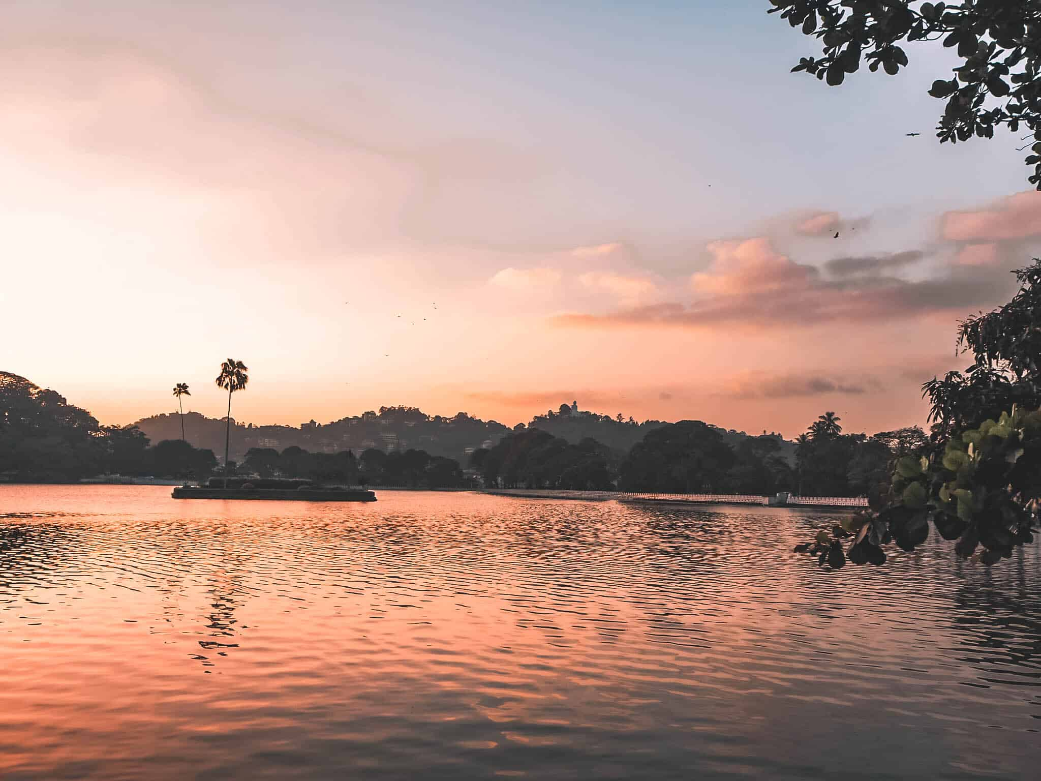 Kandy Lake Sri Lanka Sunset