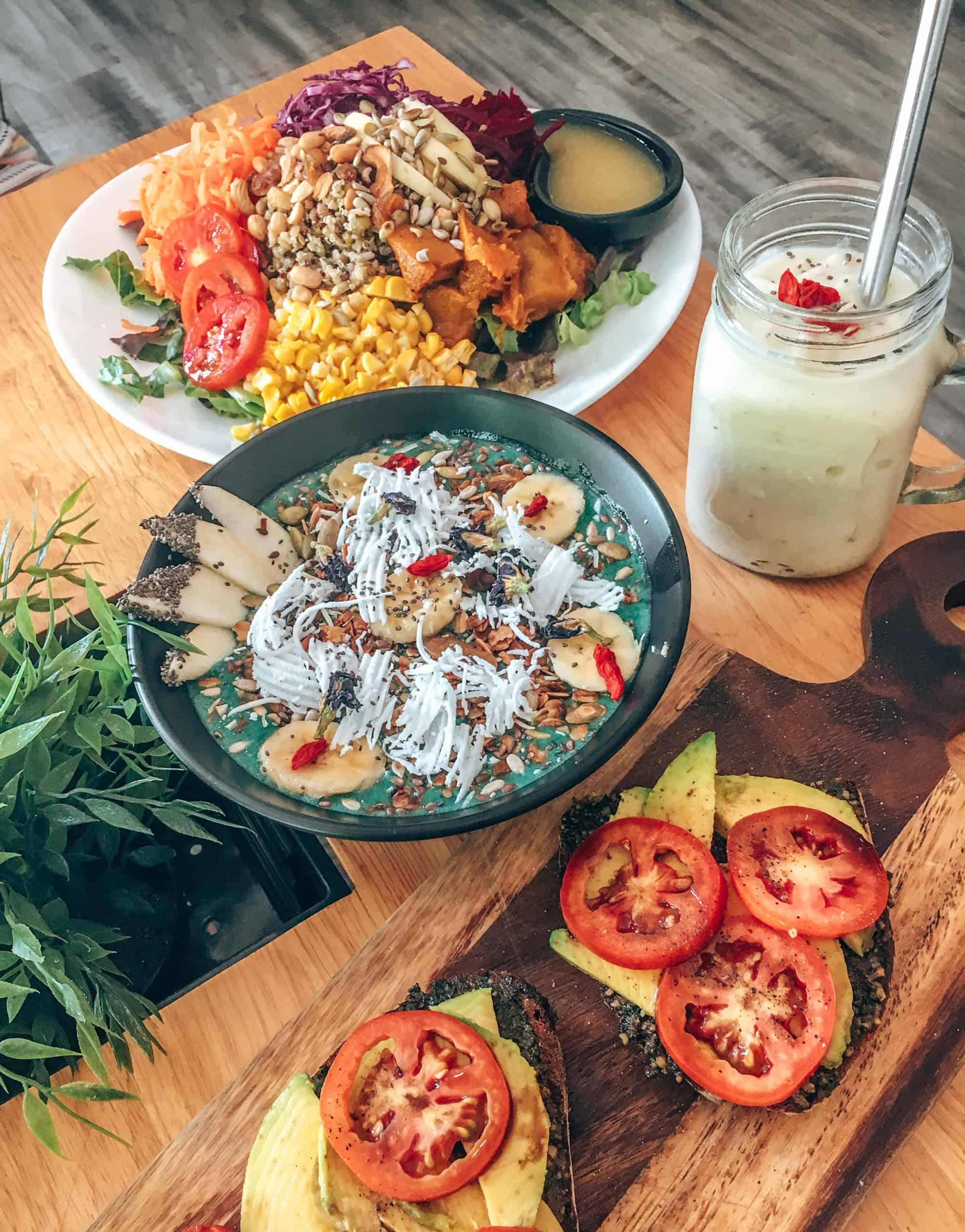 Meals at Nourish Cafe Yangon Myanmar