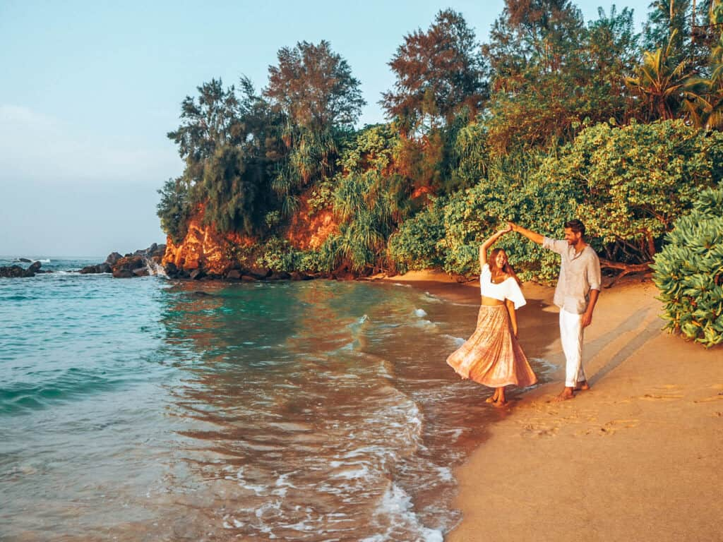 Sampath Beach Ahangama Couple Dancing Sunrise