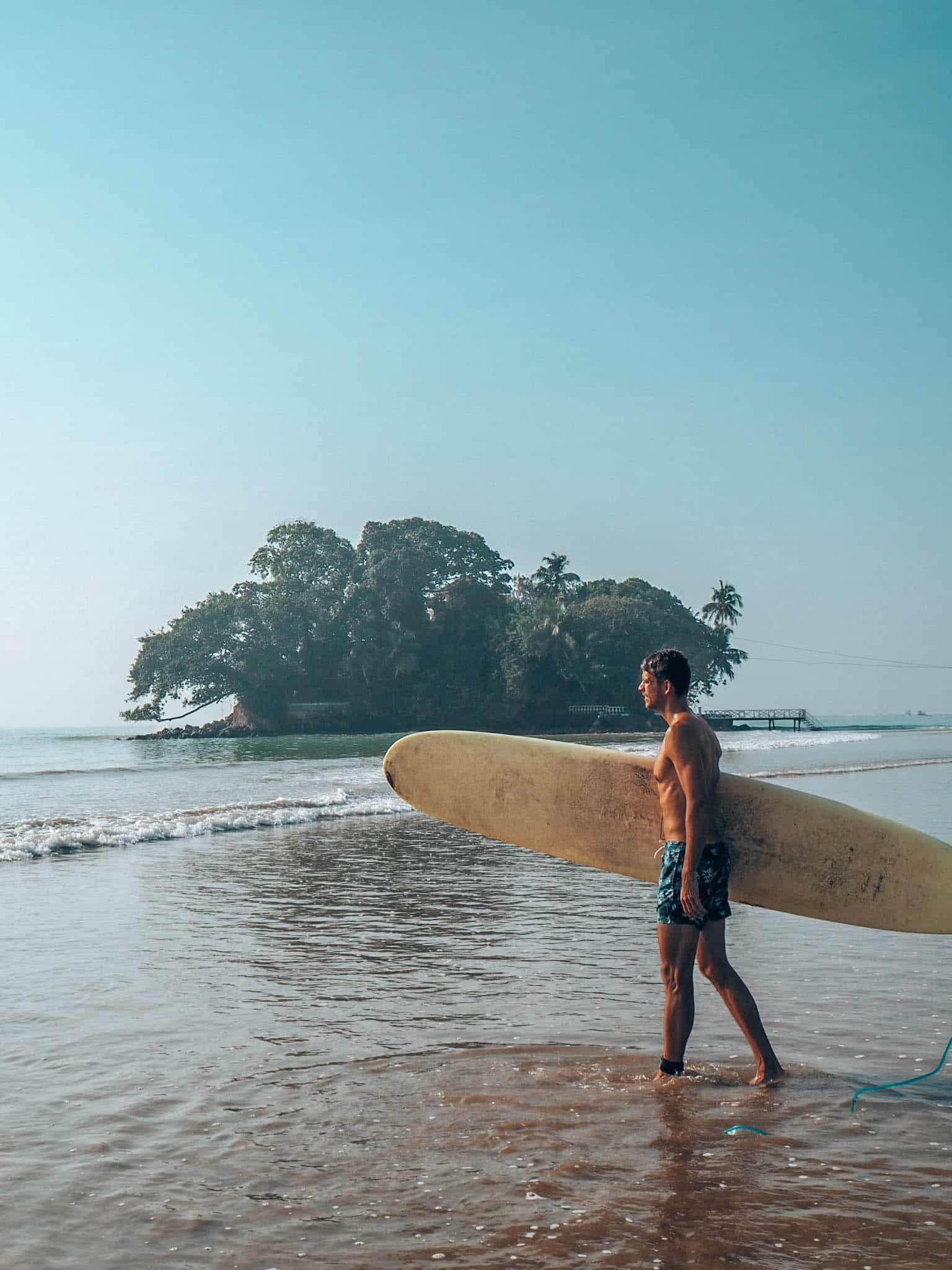 Weligama Beach Man Surfboard