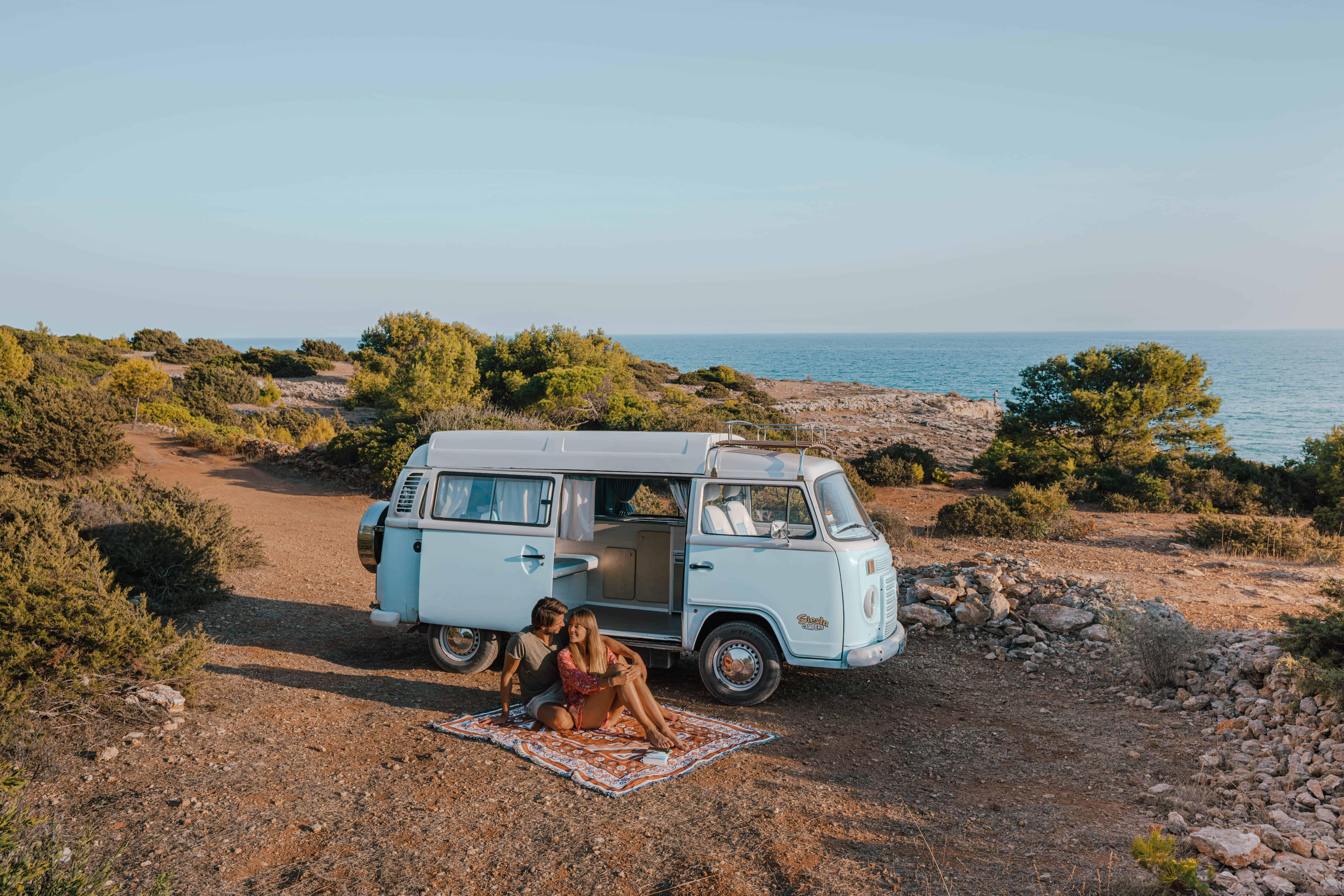 Portugal Algarve Van Life VW Bully Couple