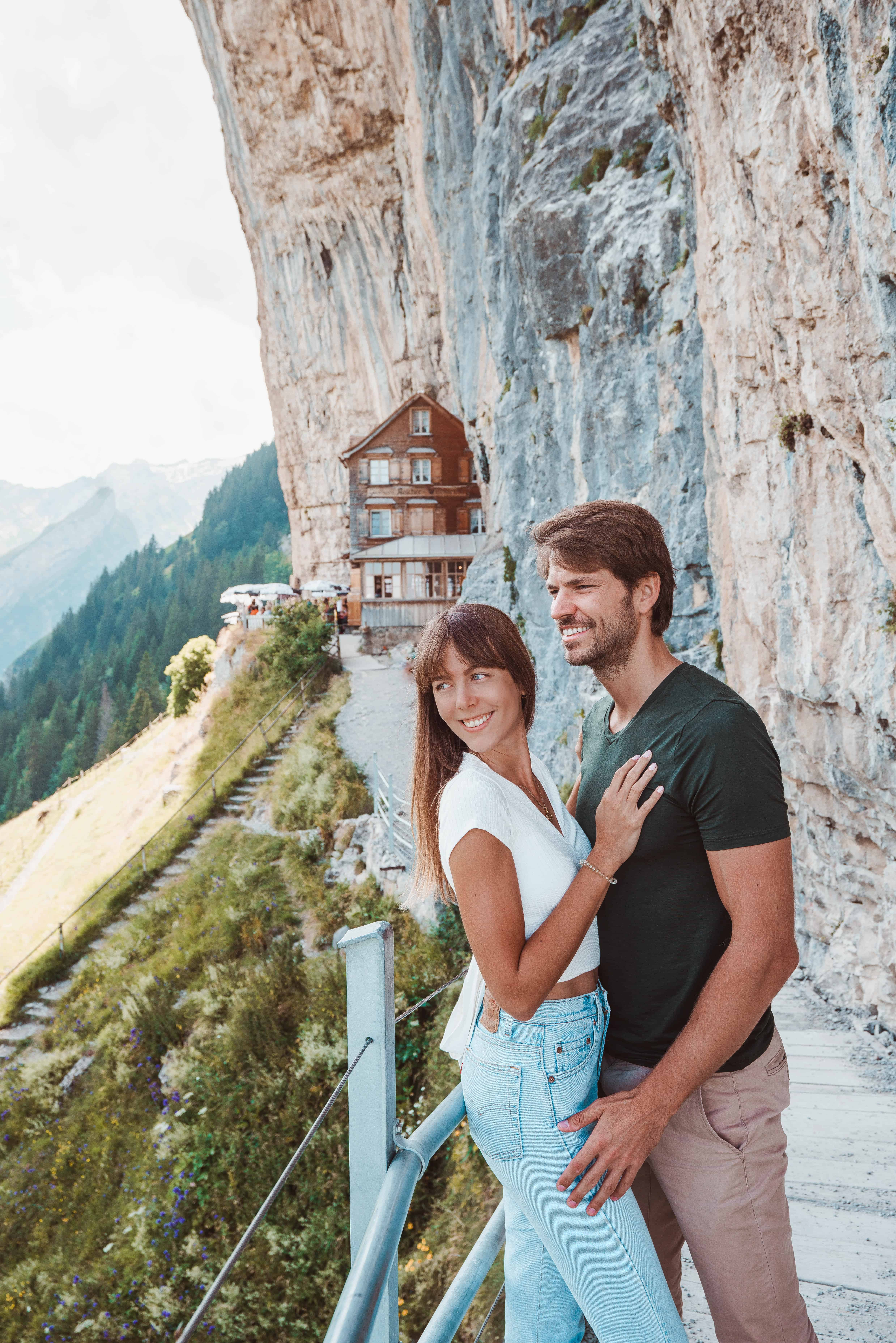 Switzerland Appenzell Aescher Couple