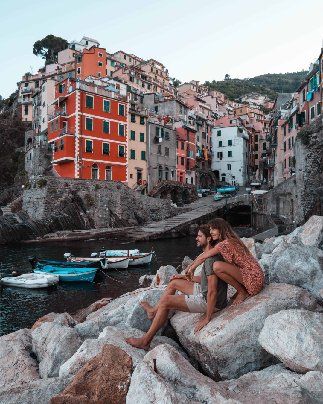 Northern Italy Road Trip - Cinque Terre Riomaggiore Couple