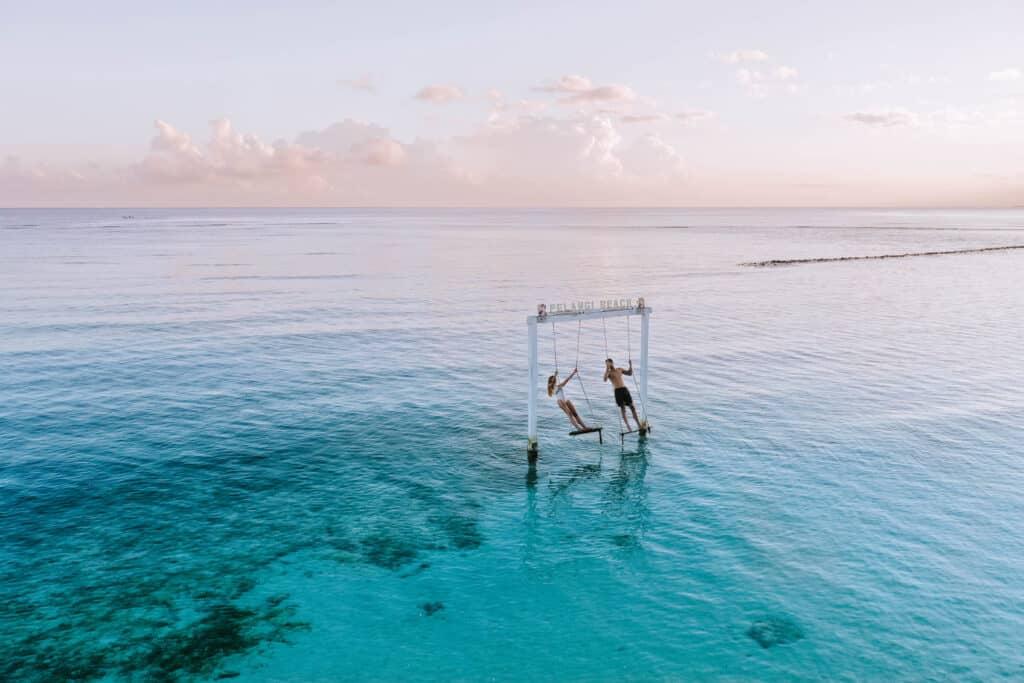 Gili Air Pelangi Beach Swing Couple Sunrise