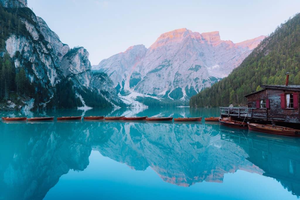 Lago di Braeis Dolomites Italy