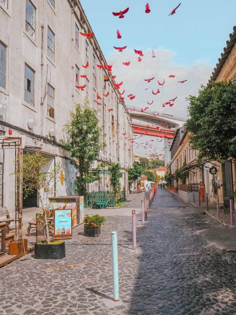 Lisbon LX Factory Street Birds