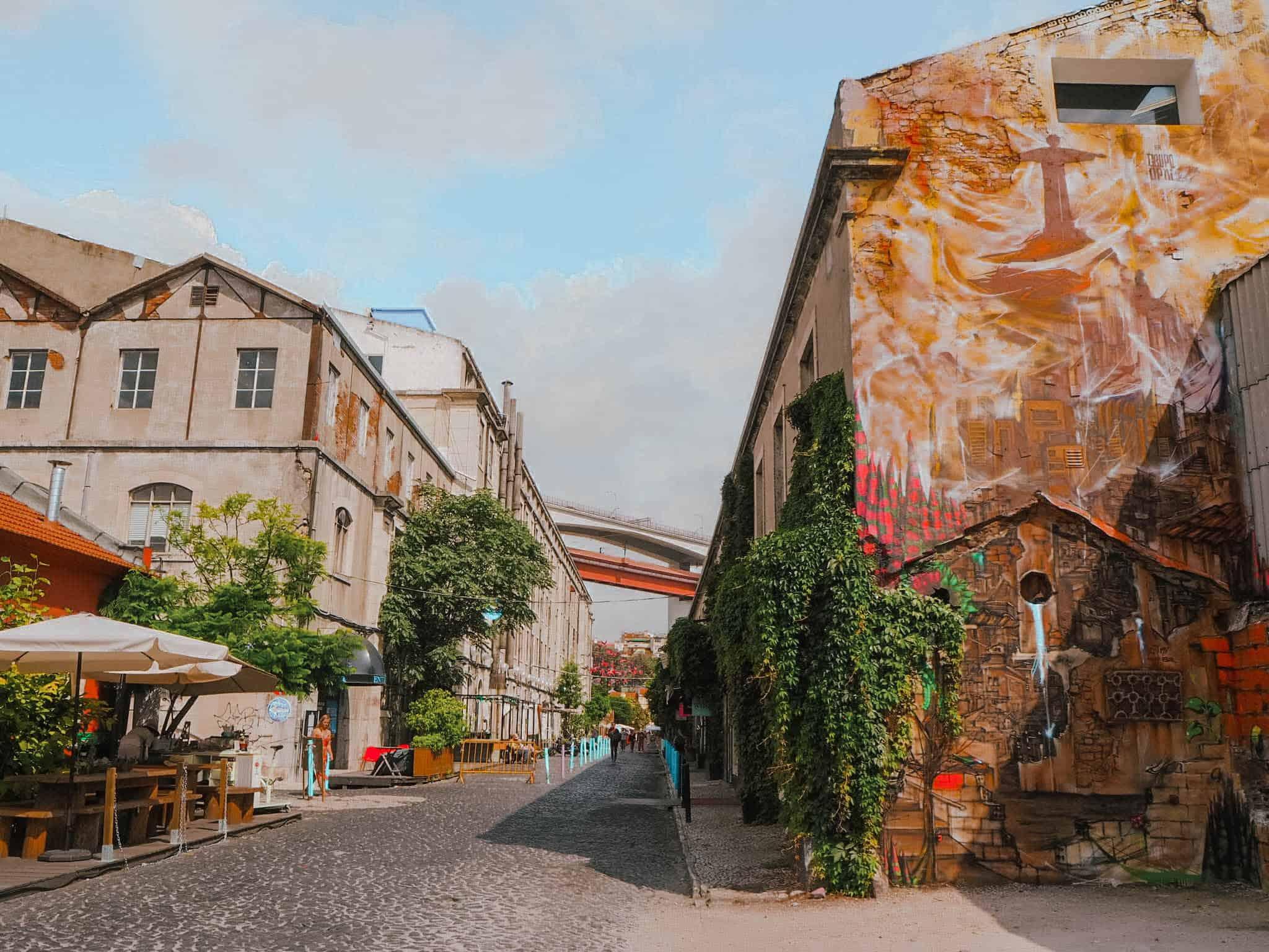 Lisbon LX Factory Street Wall Painting