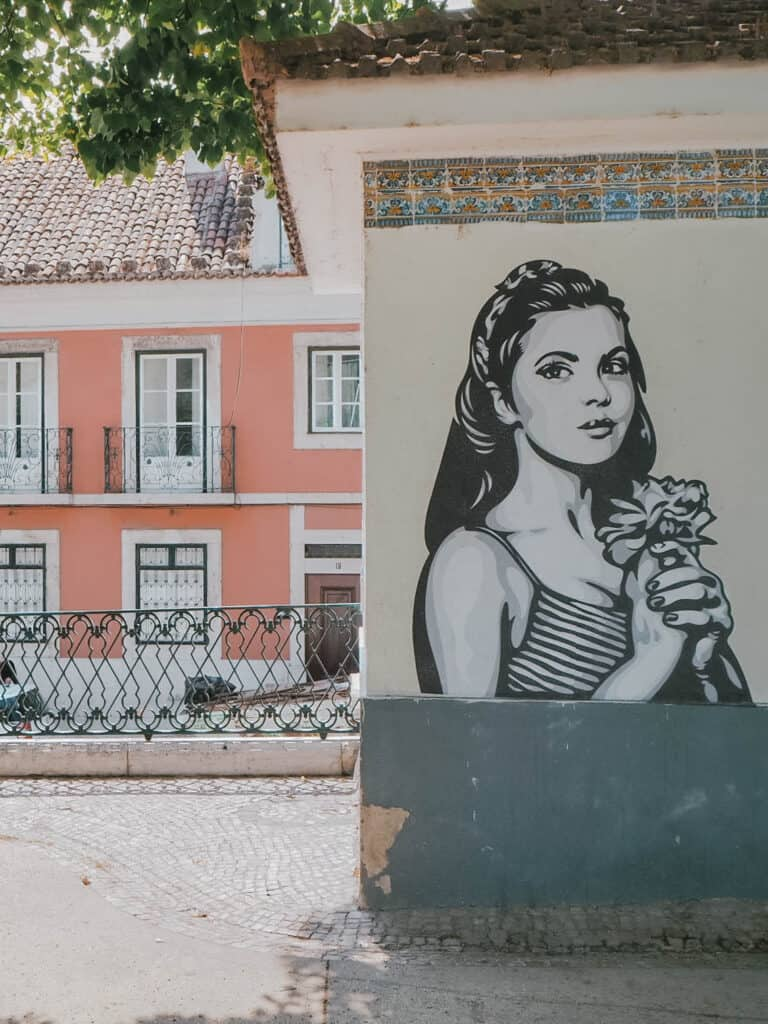 Lisbon Street Art Woman