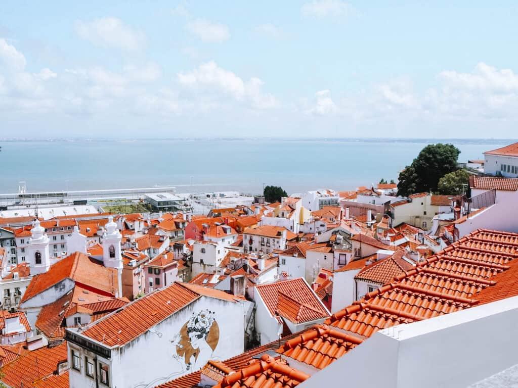 Lisbon Mirradouro Santa Lucia Panoramic Viewpoint