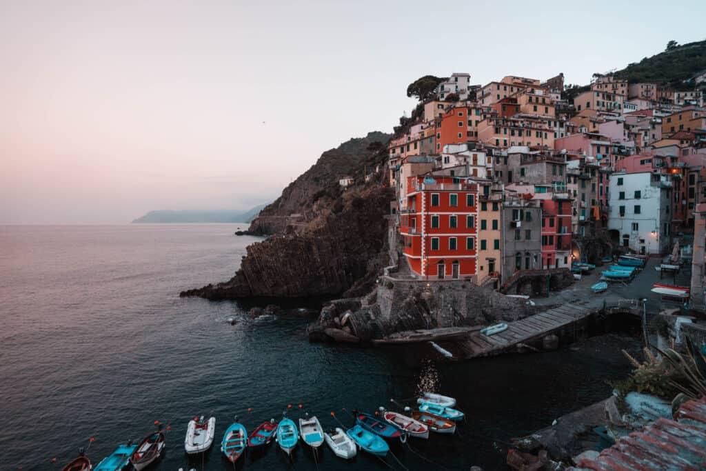 Italy Cinque Terre Riomaggiore Sunset