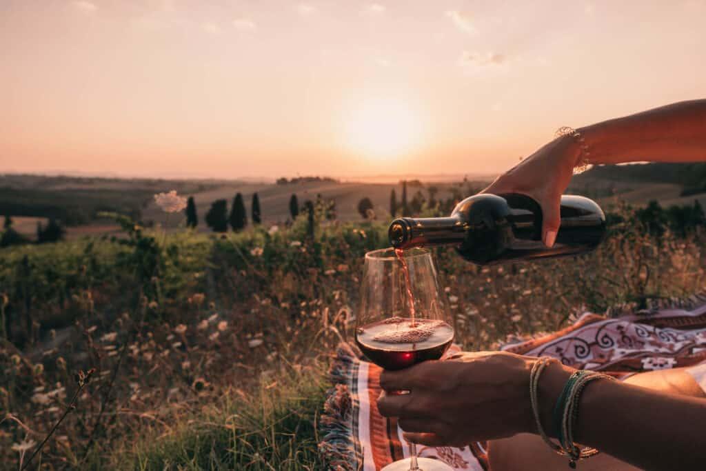 Tuscany Sunset Wine Picnic