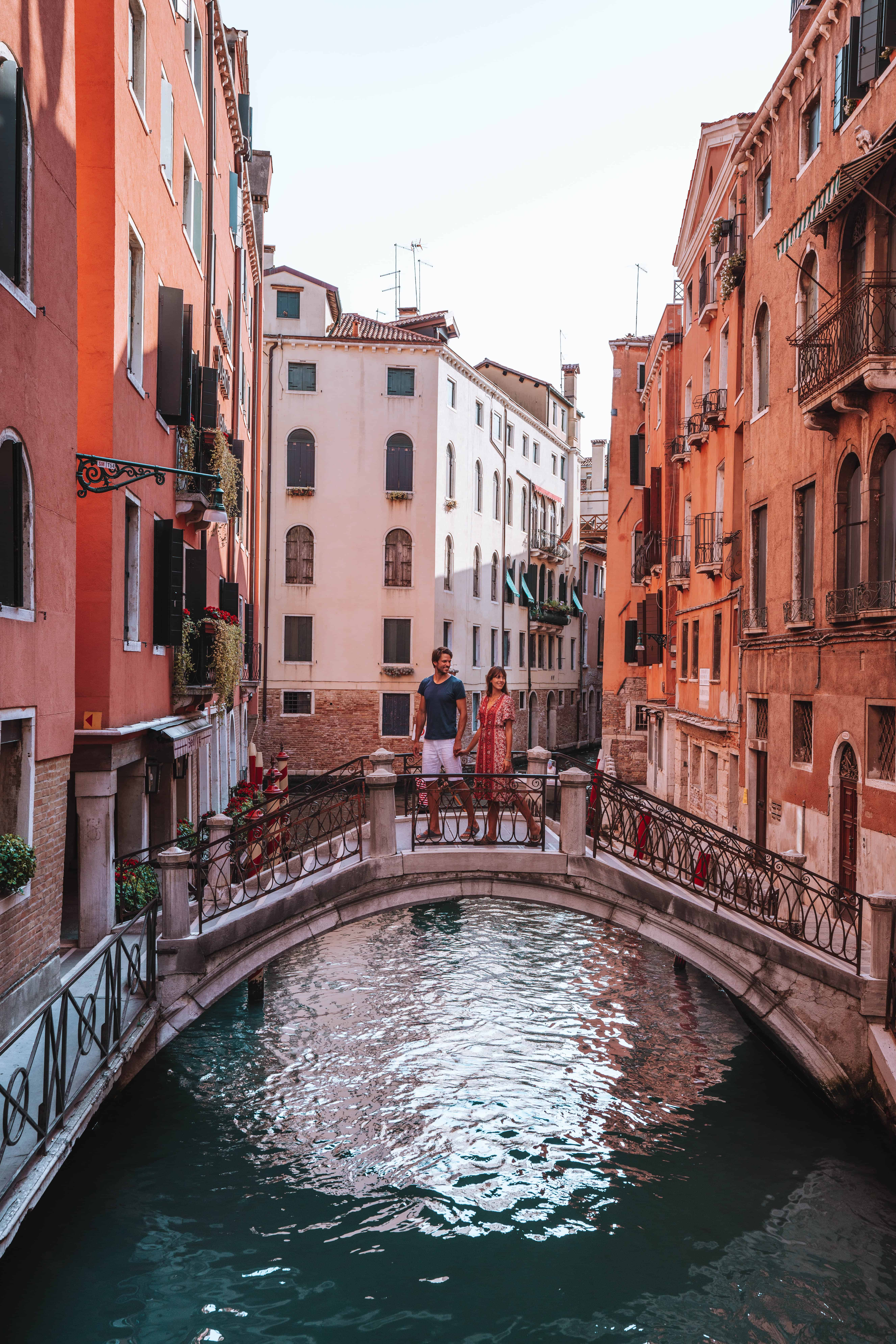 Italy Venice Bridge Canal Couple