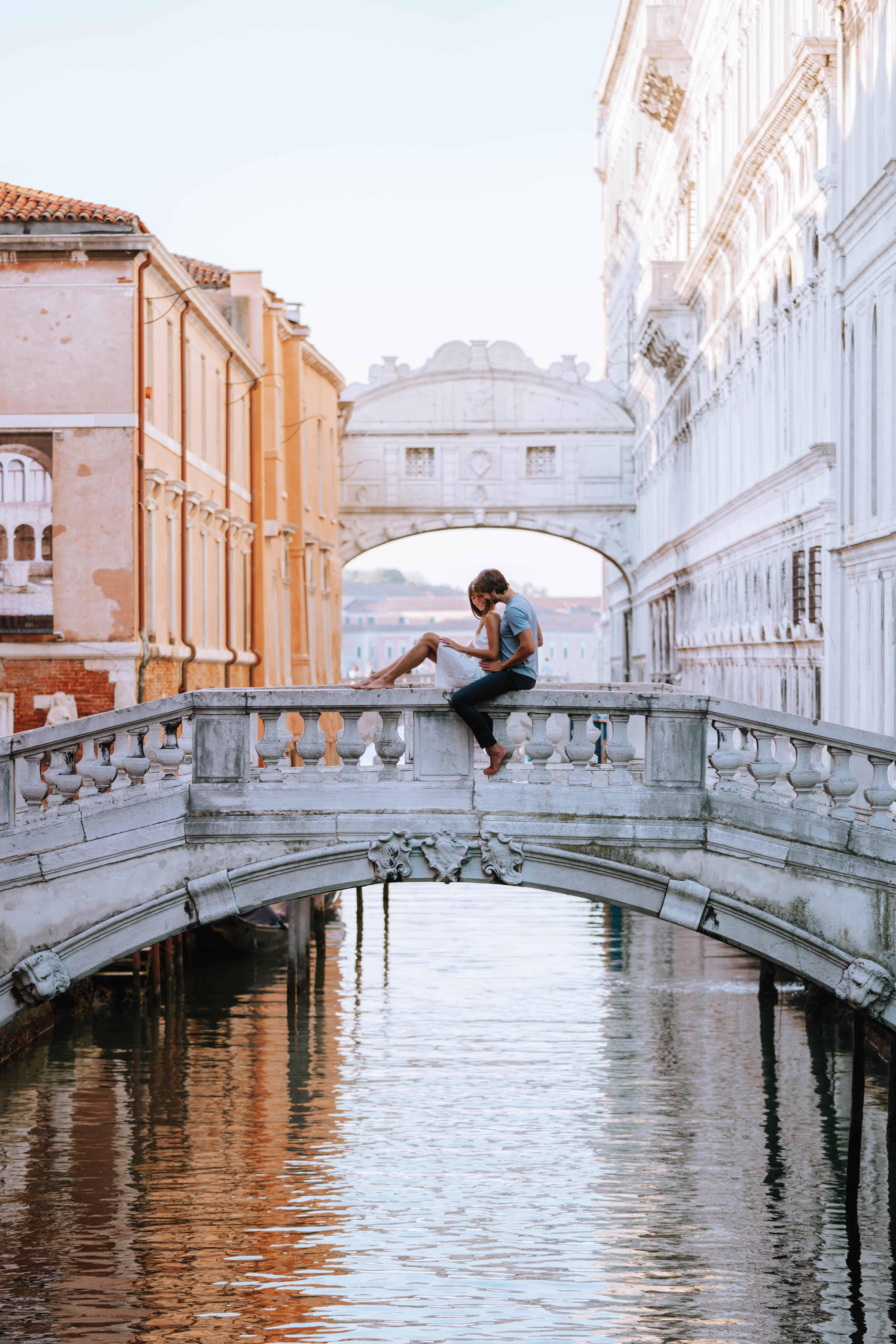Italy Venice Bridge of Sighs Couple