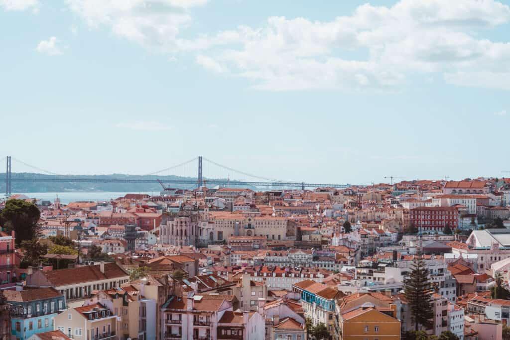 Lisbon Panoramic View Bridge
