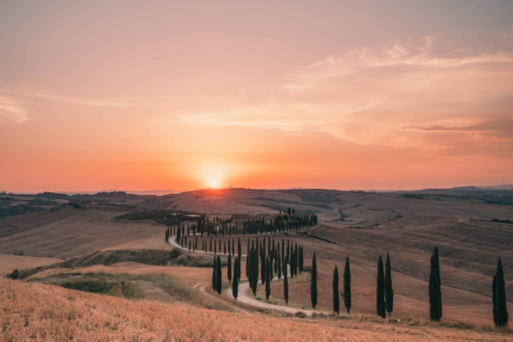 Tuscany Agriturismo Baccoleno Winding Road