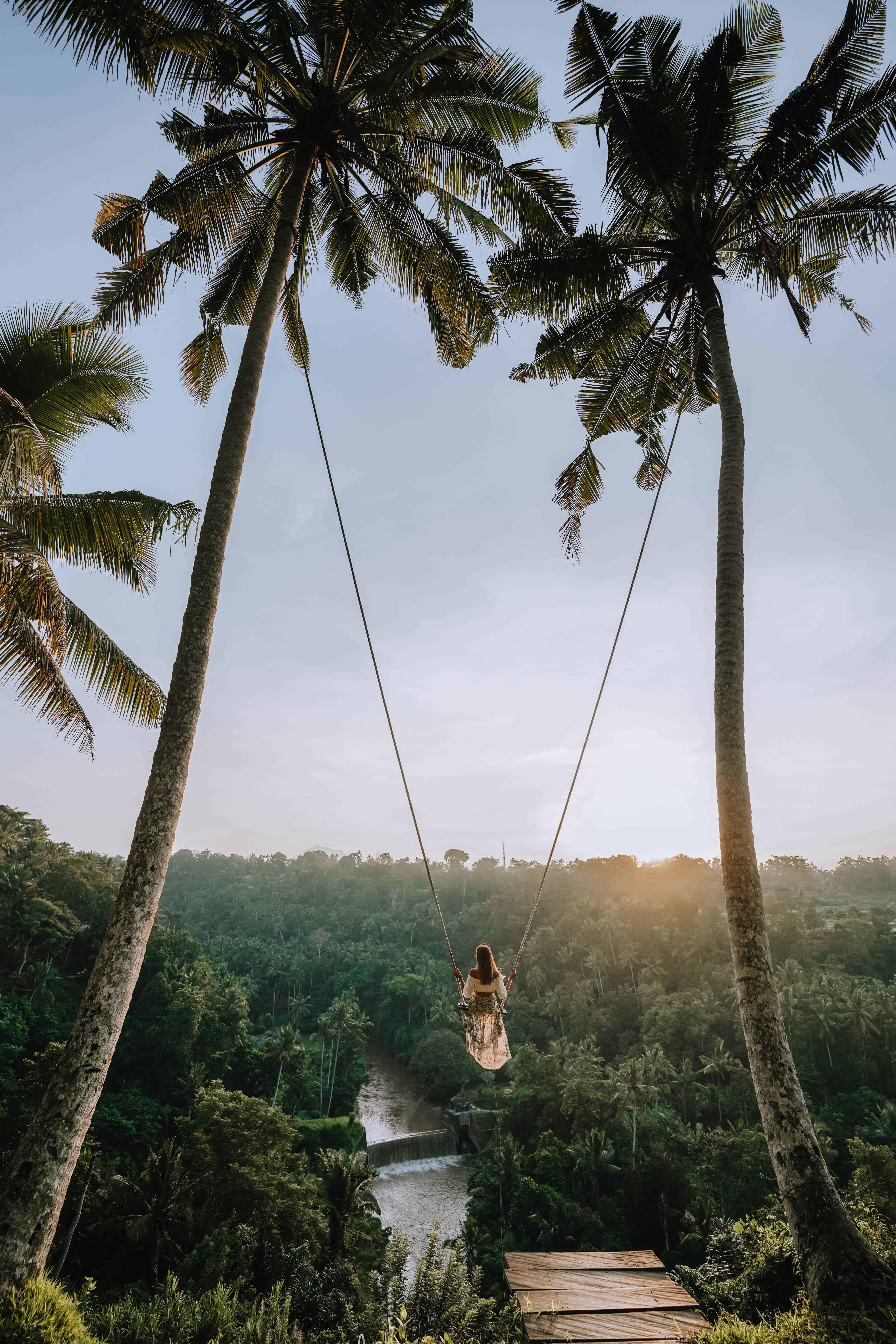 Bali Zen Hideaway Swing Woman