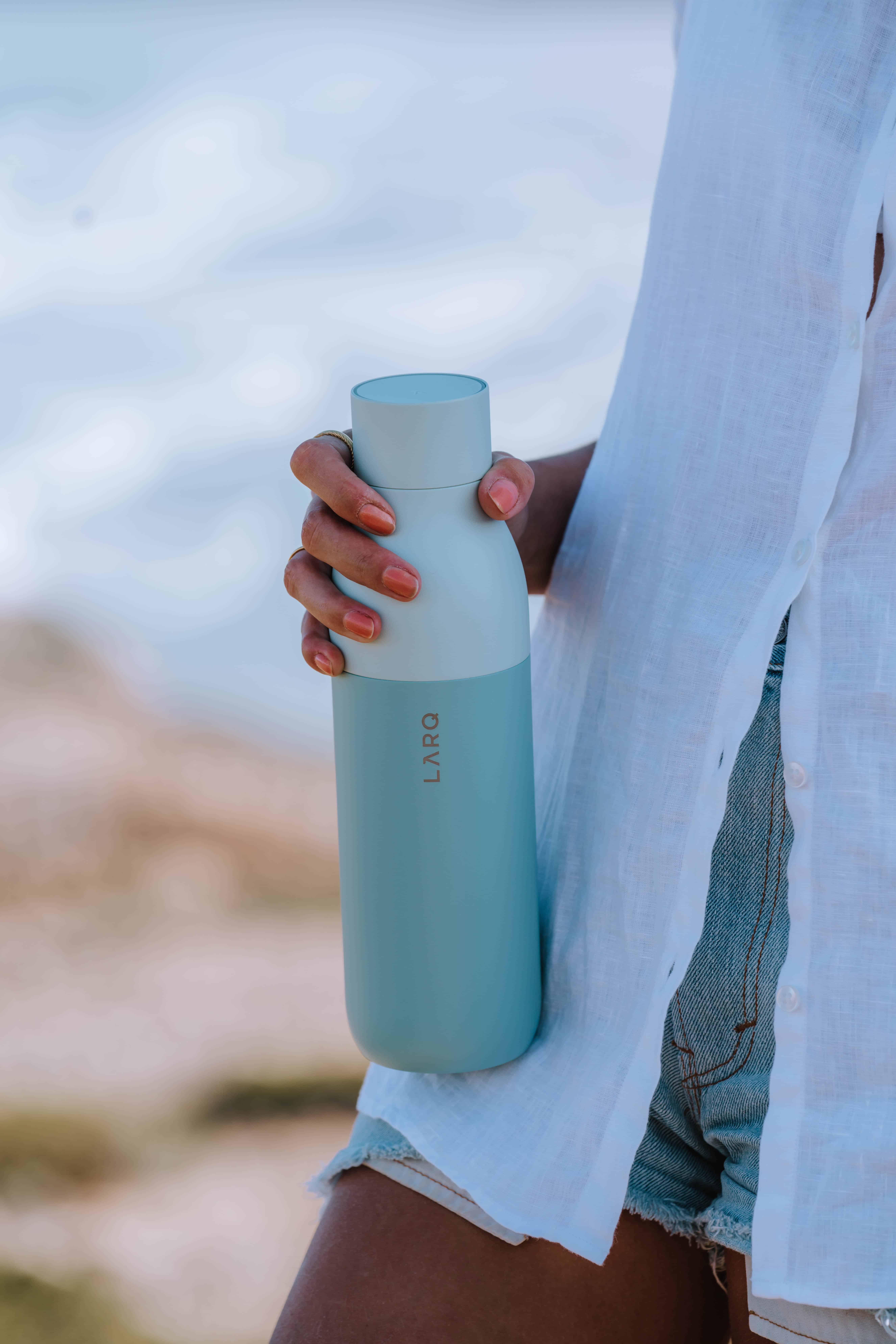 Plastic free reusable self-cleaning water bottle from LARQ
