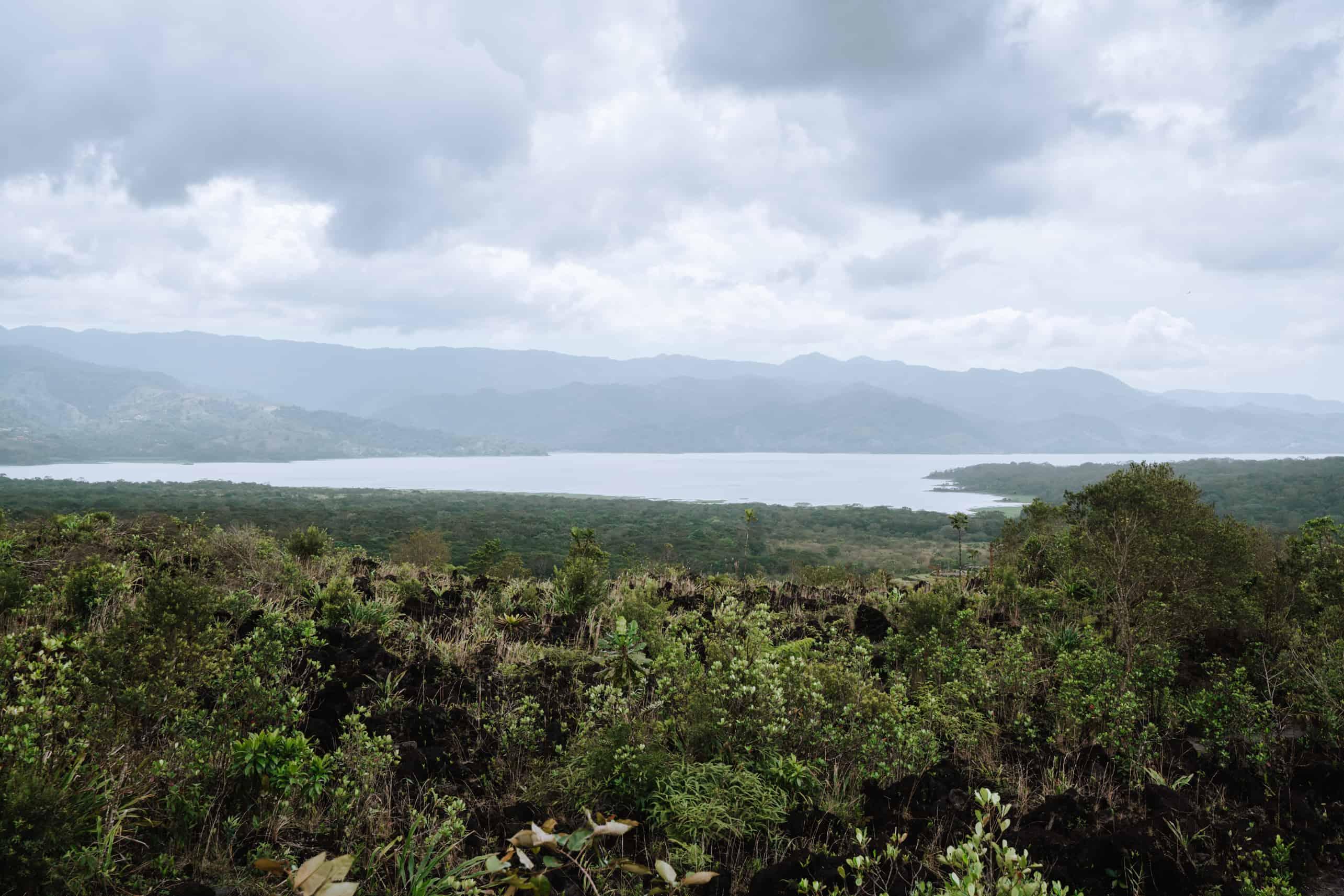 View of Arenal lake La Fortuna