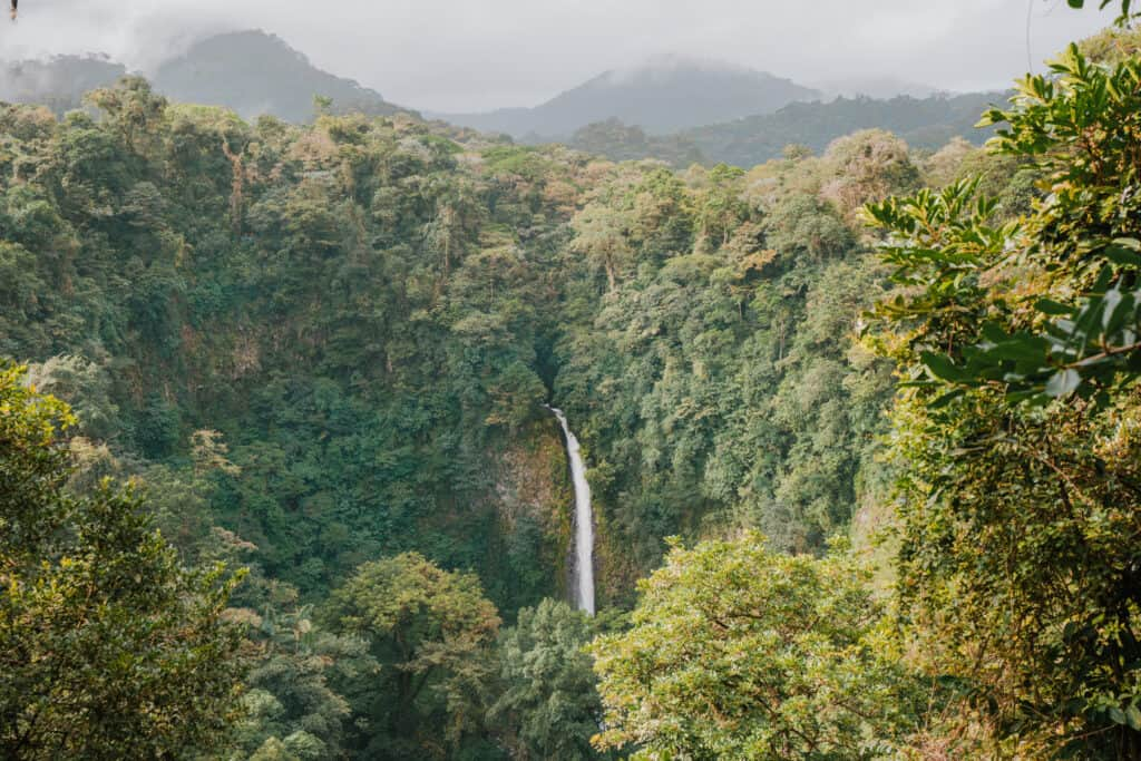 La Fortuna waterfall from above