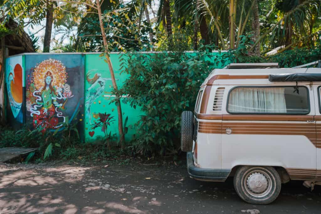 Street Art and VW Bulli in Nosara