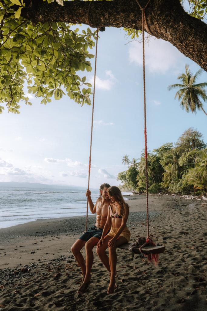 Punta Banco Couple on a Swing