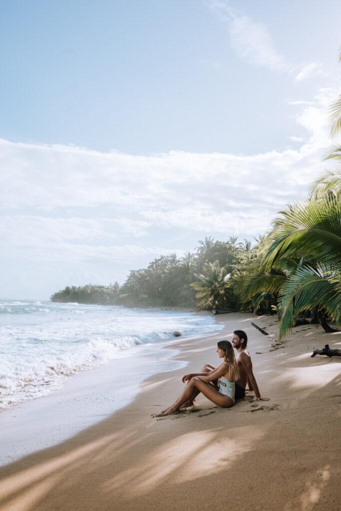 Couple at Punta Uva Beach, Costa Rica